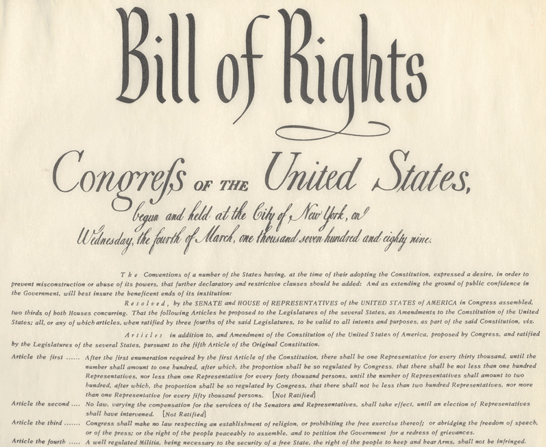 The 12 Amendments of the Bill of Rights - Congressional Apportionment Amendment